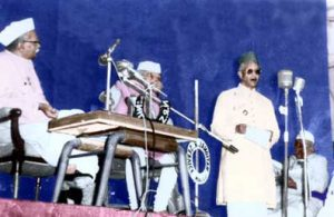 First President of India Shri Rajendra Prasad in Kalidas Samaroh in 1958