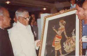 President Shri. RV Raman inaugurating Kalidasa Samaroh-1990